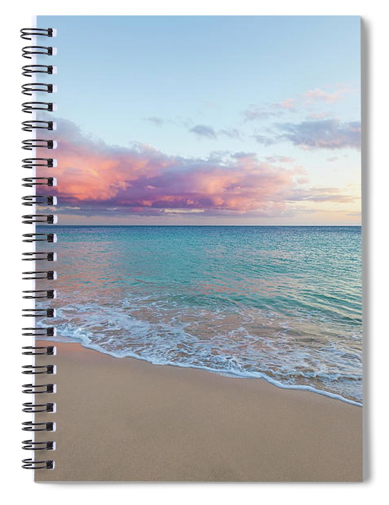 Water's Edge Spiral Notebook featuring the photograph Beautiful Seascape, Beach And Ocean At by Zodebala