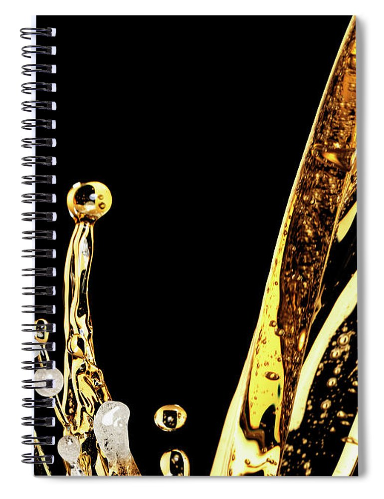 Alcohol Spiral Notebook featuring the photograph Beer Splash by Jack Andersen
