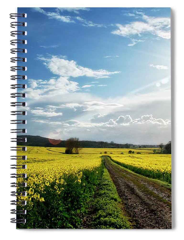 Tranquility Spiral Notebook featuring the photograph Belvoir Fields by Petertowle