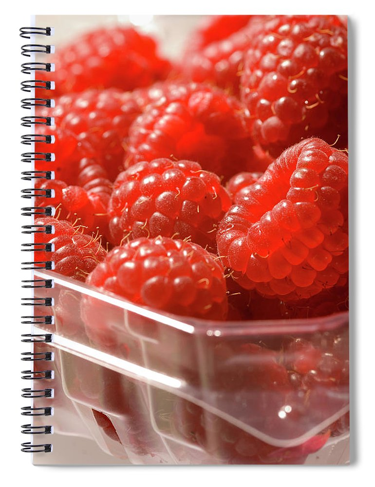 Lifestyles Spiral Notebook featuring the photograph Berries In Carton by Gwmullis