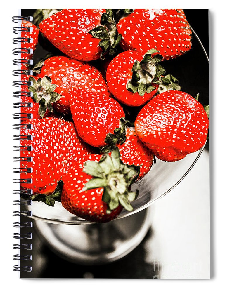 Cocktail Spiral Notebook featuring the photograph Berrini by Jorgo Photography - Wall Art Gallery