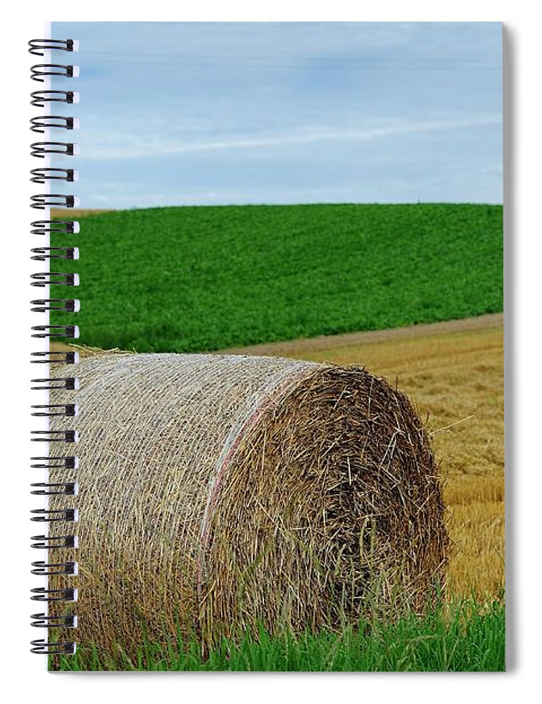 Tranquility Spiral Notebook featuring the photograph Biei...patchwork Road by By Alan Tsai