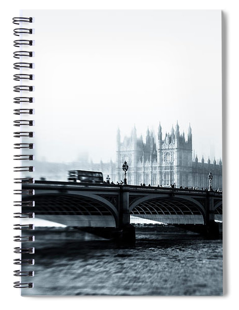 Clock Tower Spiral Notebook featuring the photograph Big Ben And Houses Of Parliament In The by Cirano83