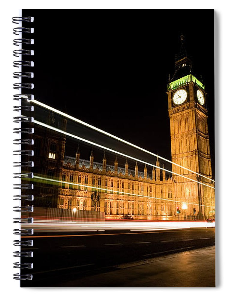 Clock Tower Spiral Notebook featuring the photograph Big Ben At Night by Track5