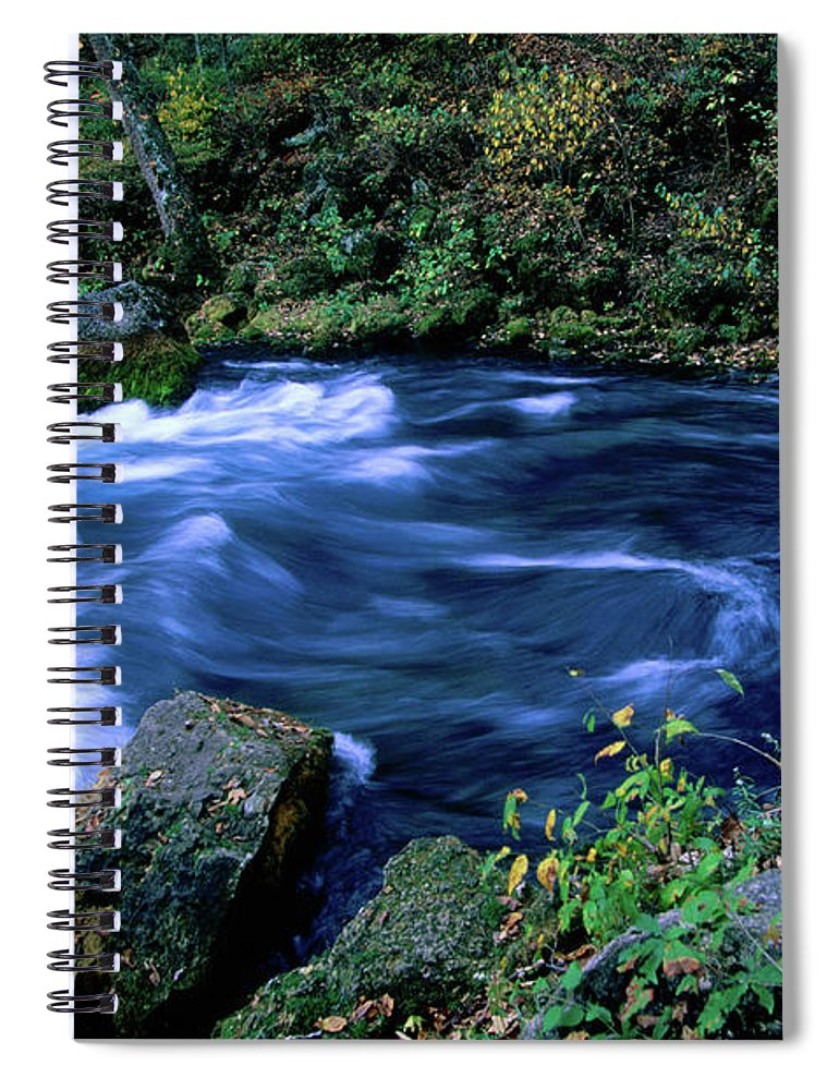 Scenics Spiral Notebook featuring the photograph Big Spring, Ozarks National Scenic by John Elk Iii