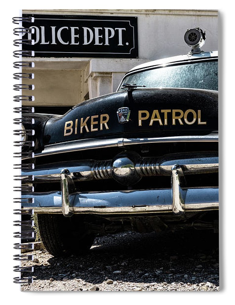 Classic Car Spiral Notebook featuring the photograph Biker Patrol II by DiFigiano Photography
