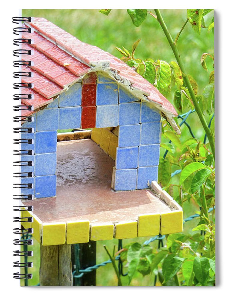 Summer Spiral Notebook featuring the photograph Birdhouse by Lisa Crawford