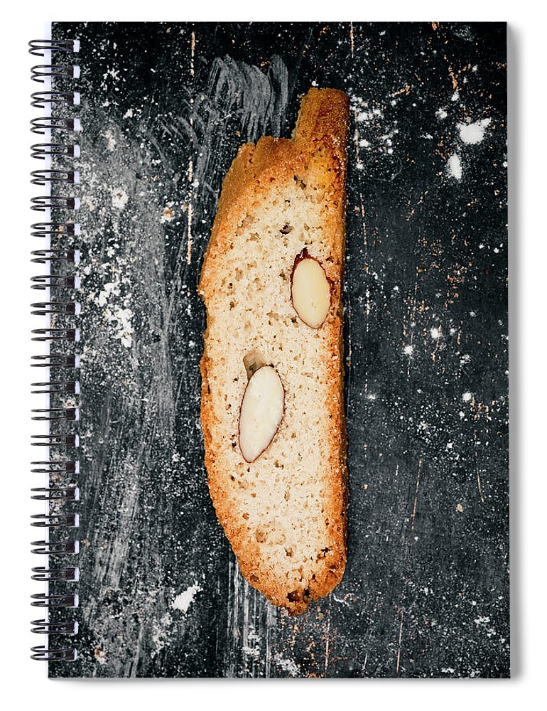 Sweden Spiral Notebook featuring the photograph Biscotti With Almonds, Directly Above by Johner Images