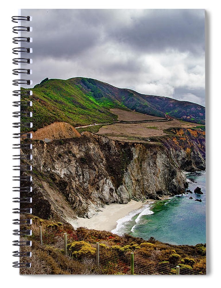 Bixby Spiral Notebook featuring the photograph Bixby Creek Bridge - Big Sur California by Bill Cannon