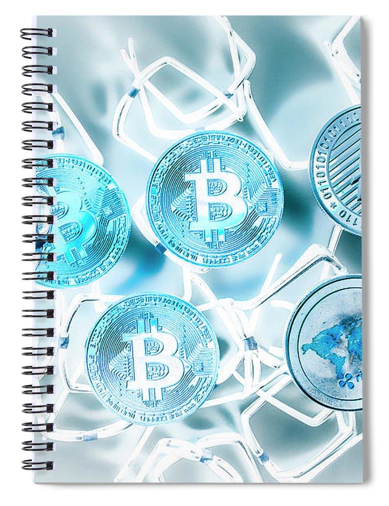 Development Spiral Notebook featuring the photograph Blockchain Network by Jorgo Photography - Wall Art Gallery