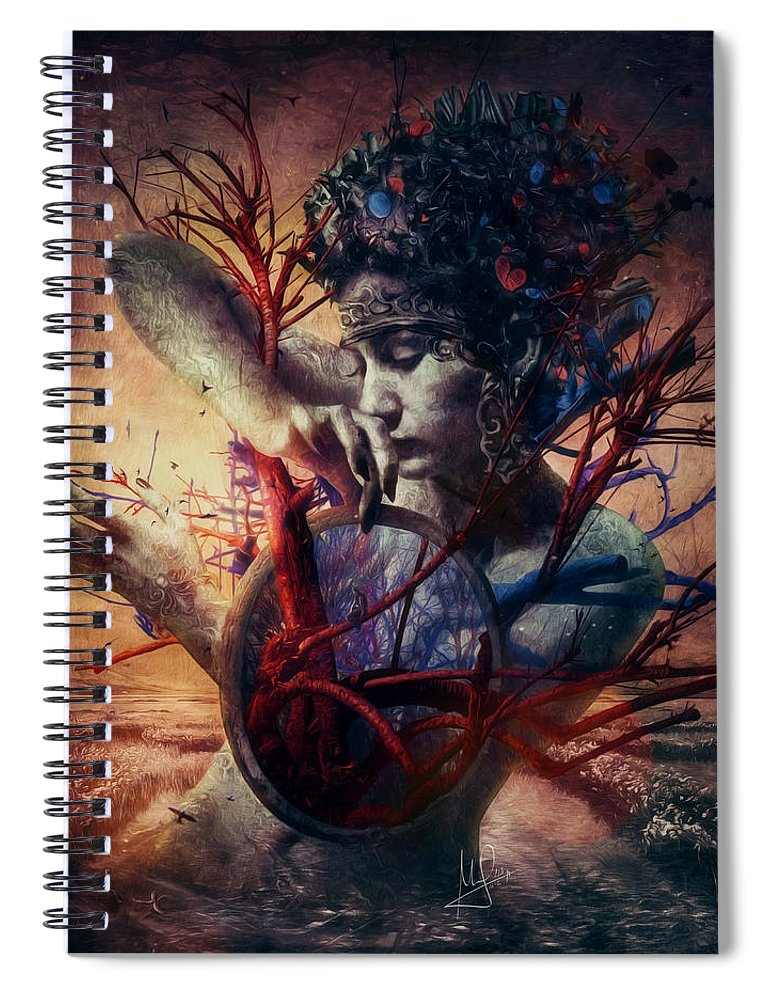 Love Spiral Notebook featuring the mixed media Blossom by Mario Sanchez Nevado