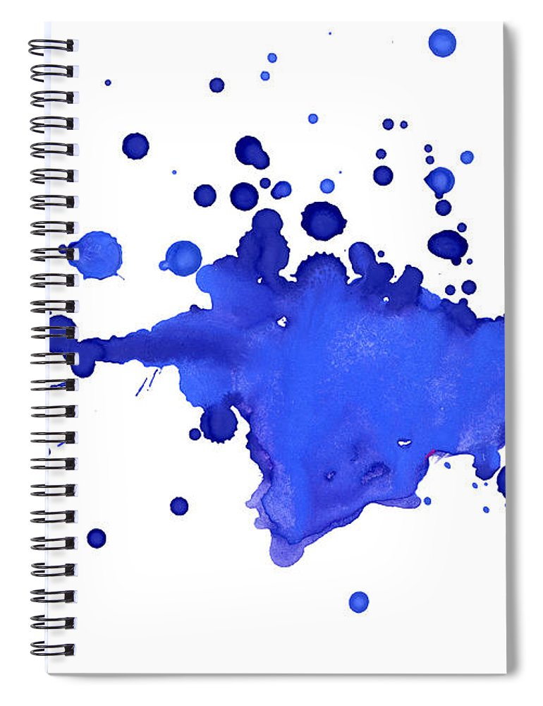 Art Spiral Notebook featuring the photograph Blue Blobs On The Paper by Alenchi