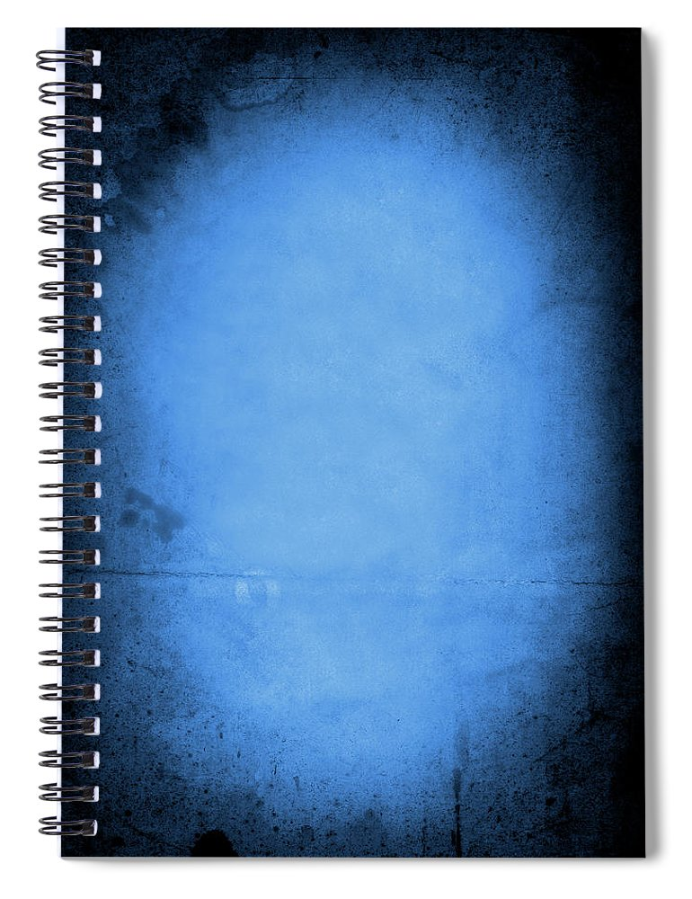 Burnt Spiral Notebook featuring the photograph Blue Drama by Thepalmer