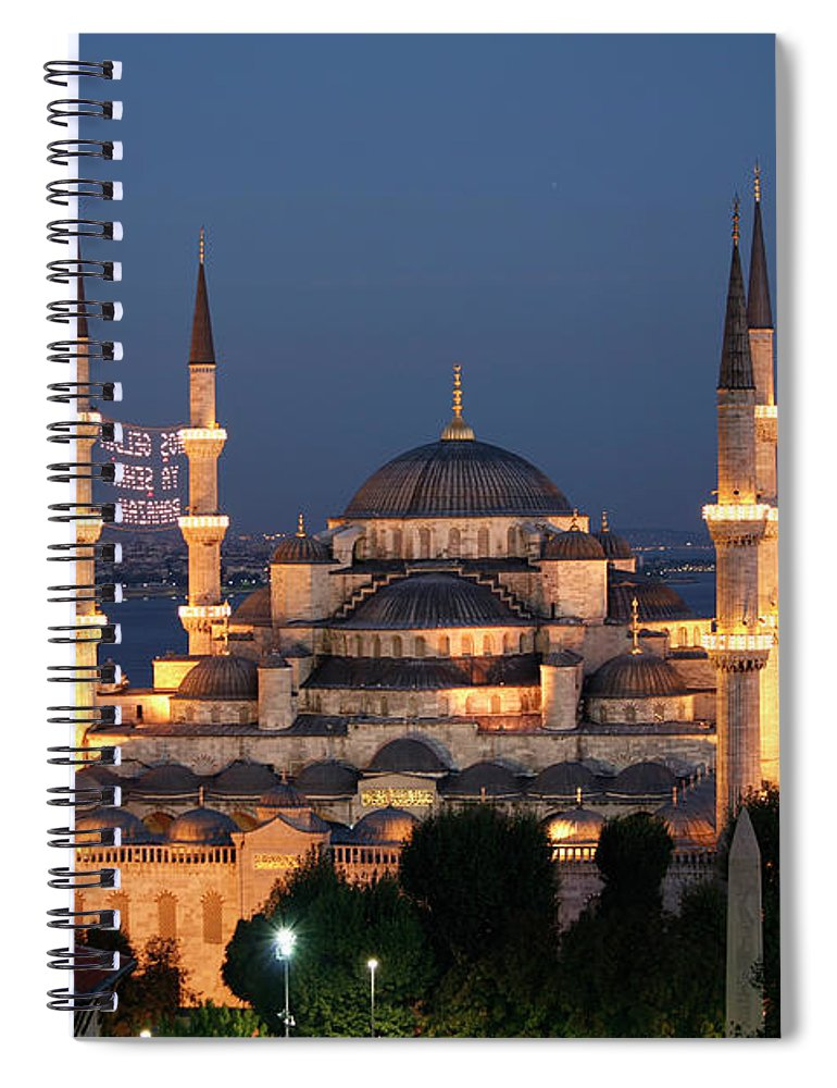 Istanbul Spiral Notebook featuring the photograph Blue Mosque In Istanbul by Ayse Topbas