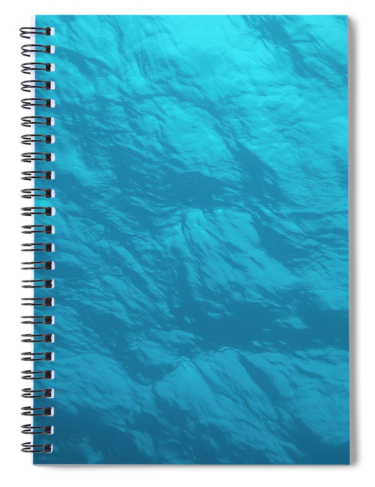 Tranquility Spiral Notebook featuring the photograph Blue Ocean Water Surface As Seen From by Jeff Hunter