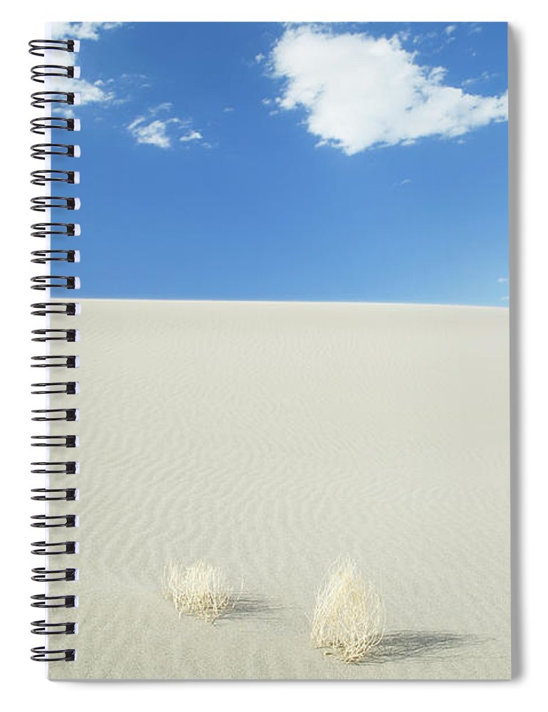 Sand Dune Spiral Notebook featuring the photograph Blue Sky Over Sand Dune by Bryan Mullennix