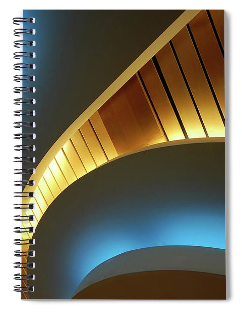 Curve Spiral Notebook featuring the photograph Blue Swirl by Copyright Ralph Grunewald