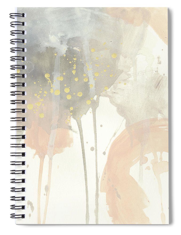 Abstract Spiral Notebook featuring the painting Blush Beacon I by June Erica Vess
