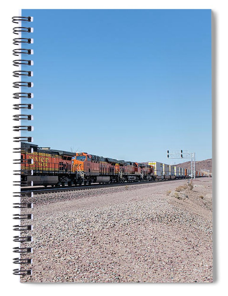 Bnsf Spiral Notebook featuring the photograph Bnsf5130 by Jim Thompson