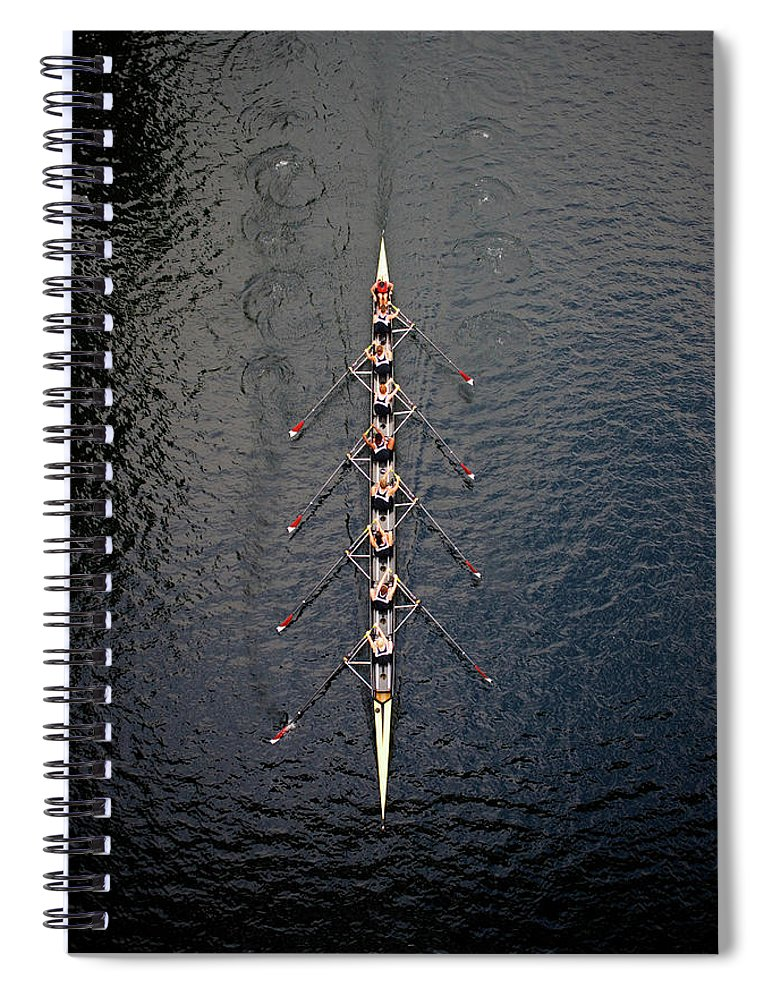 Viewpoint Spiral Notebook featuring the photograph Boat Race by Fuse