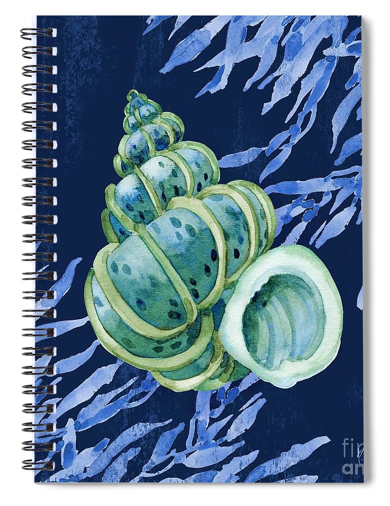 Watercolor Spiral Notebook featuring the painting Bondi Shells IIi by Paul Brent