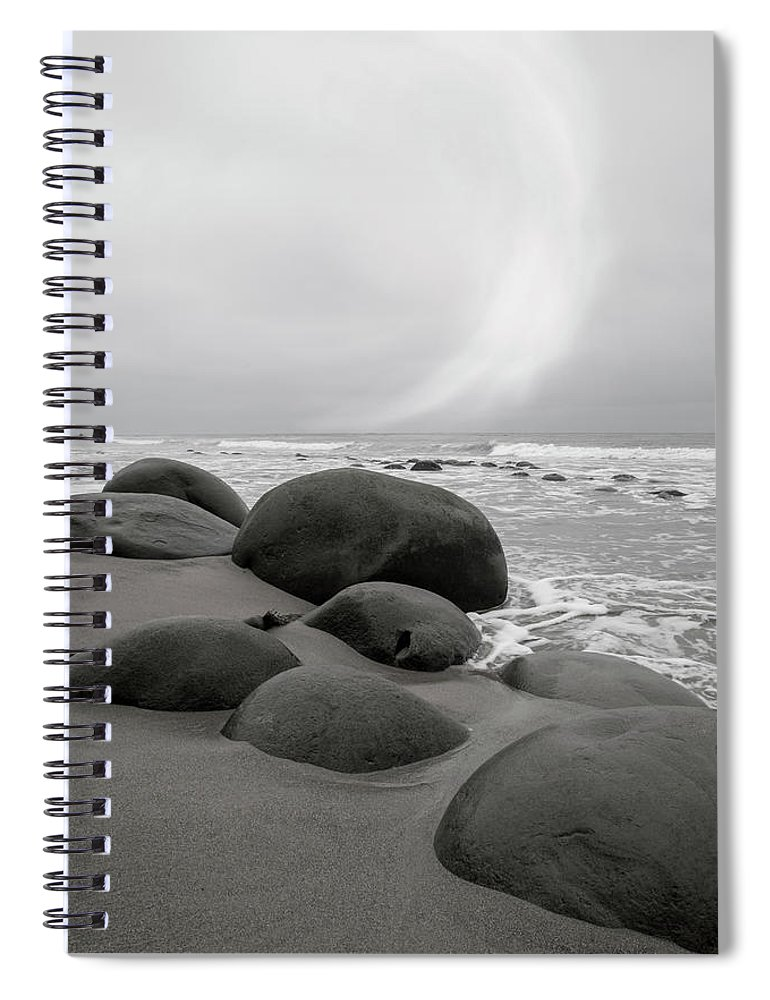California Spiral Notebook featuring the photograph Bowling Ball Beach California Morning by Betsy Knapp
