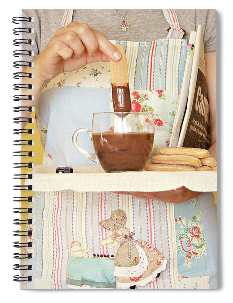 Breakfast Spiral Notebook featuring the photograph Breakfast With Chocolate by Montse Cuesta