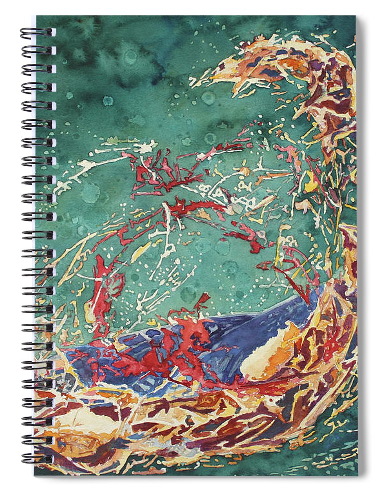Empty Nest Spiral Notebook featuring the painting Breaking Out Empty Nest Iv by Jenny Armitage