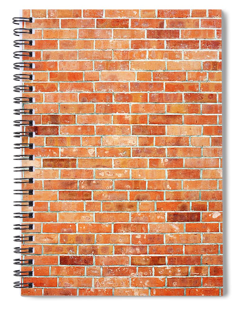 Toughness Spiral Notebook featuring the photograph Brick Wall by Ballyscanlon