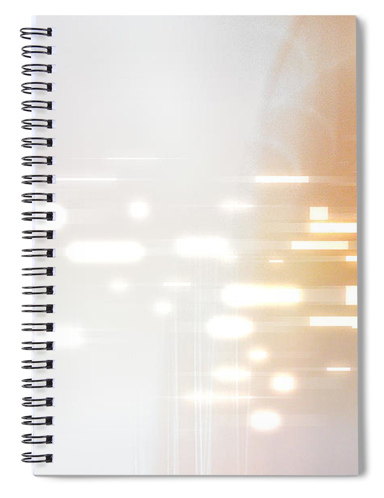 Motion Spiral Notebook featuring the digital art Bright Lights Abstract by Stockbyte