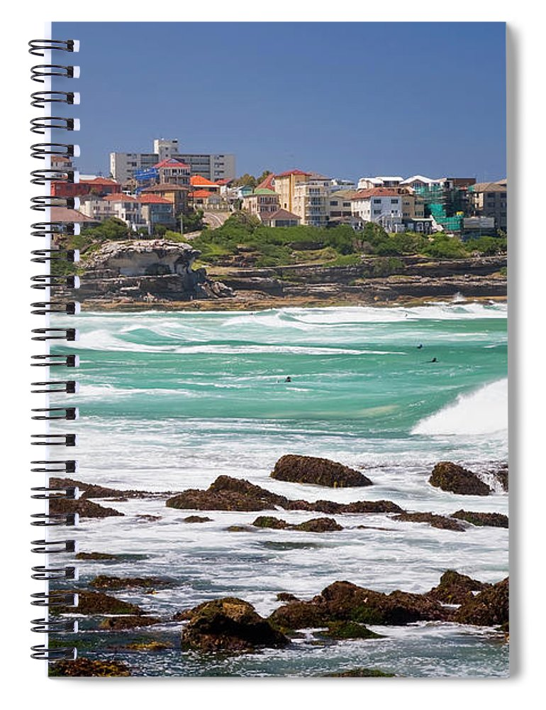 Suburb Spiral Notebook featuring the photograph Bronte, Sydney, Australia by Peter Adams