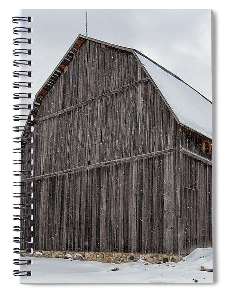 Port Spiral Notebook featuring the photograph Brunson Barn 1 by Heather Kenward