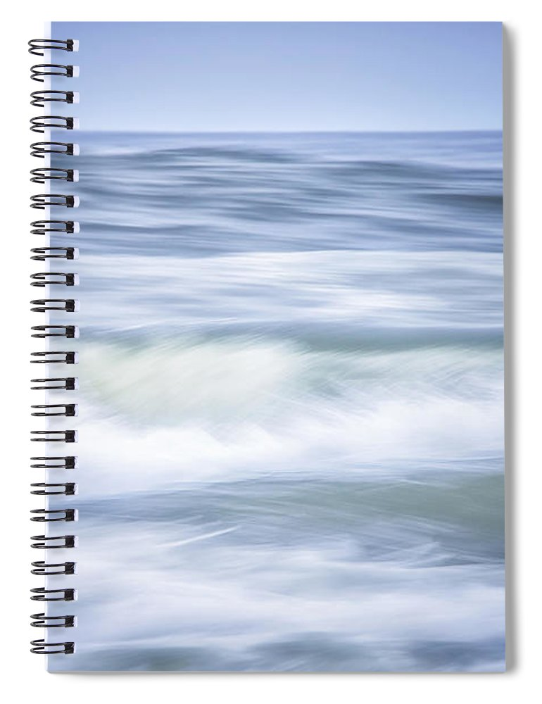 California Spiral Notebook featuring the photograph Brush Strokes Wave Art by Marnie Patchett