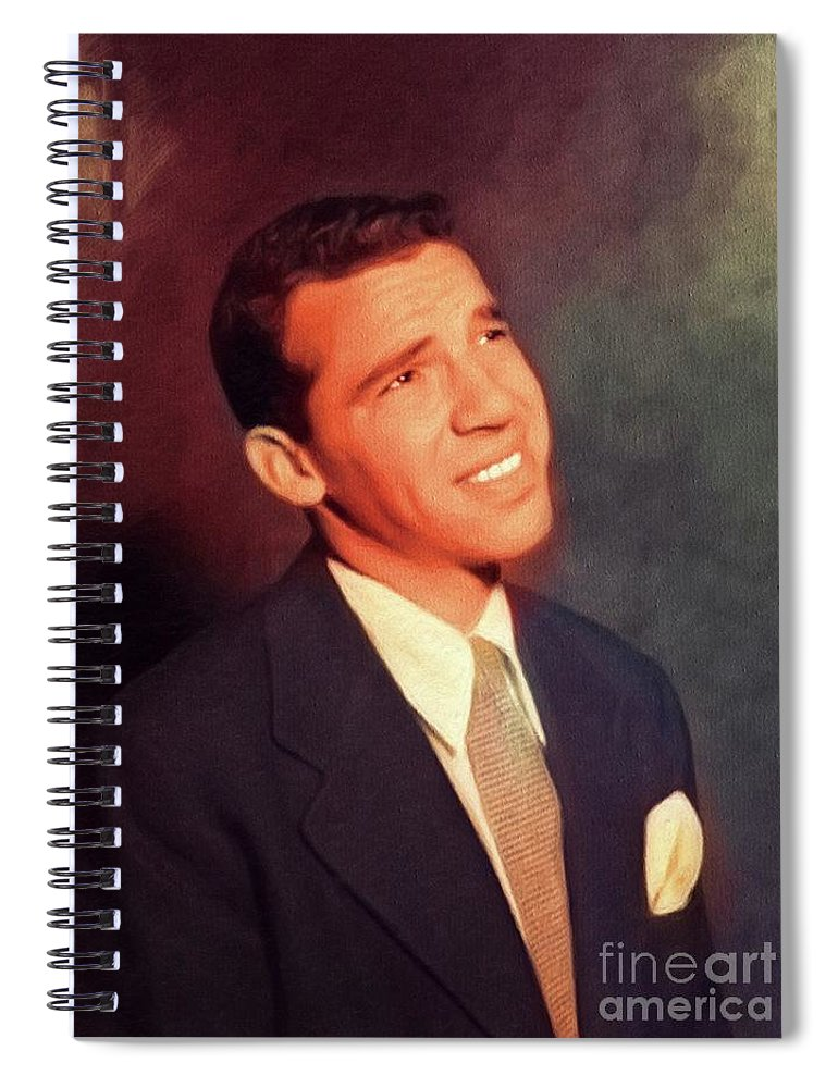 Buddy Spiral Notebook featuring the painting Buddy Rich, Music Legend by Esoterica Art Agency
