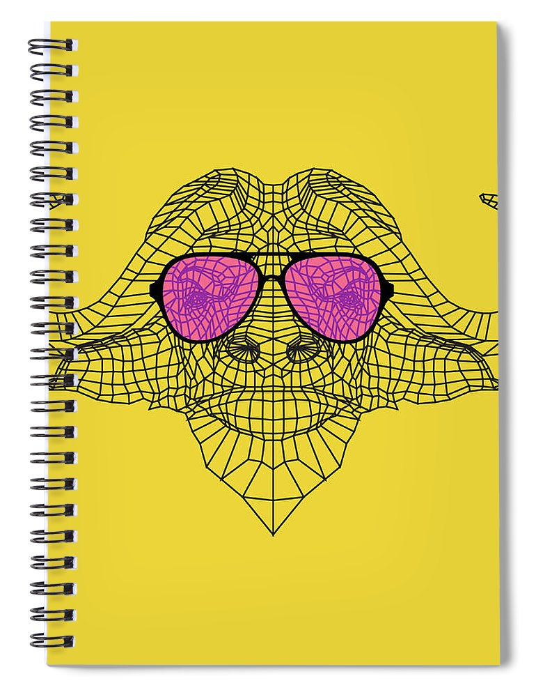 Buffalo Spiral Notebook featuring the digital art Buffalo In Pink Glasses by Naxart Studio