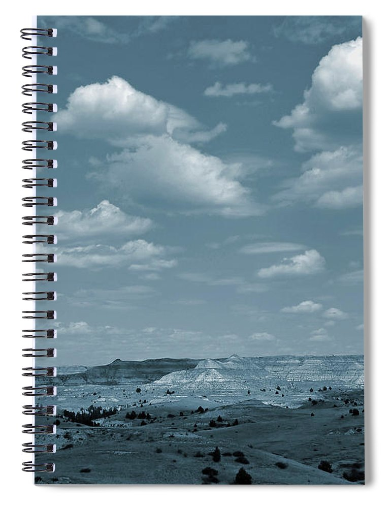 North Dakota Spiral Notebook featuring the photograph Burning Coal Vein Cloud Parade by Cris Fulton