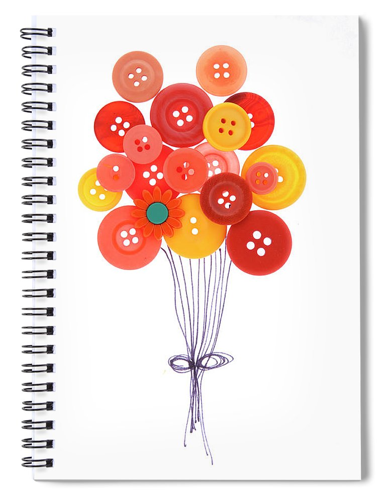 Brampton Spiral Notebook featuring the photograph Buttons As Balloons by Lisa Stokes