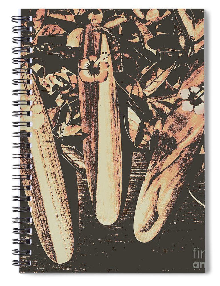 Surf Spiral Notebook featuring the photograph Bygone Boarding by Jorgo Photography - Wall Art Gallery