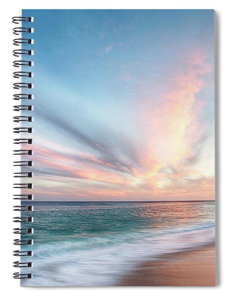 Beach Spiral Notebook featuring the photograph Cabo San Lucas Beach Sunset Mexico by Nathan Bush