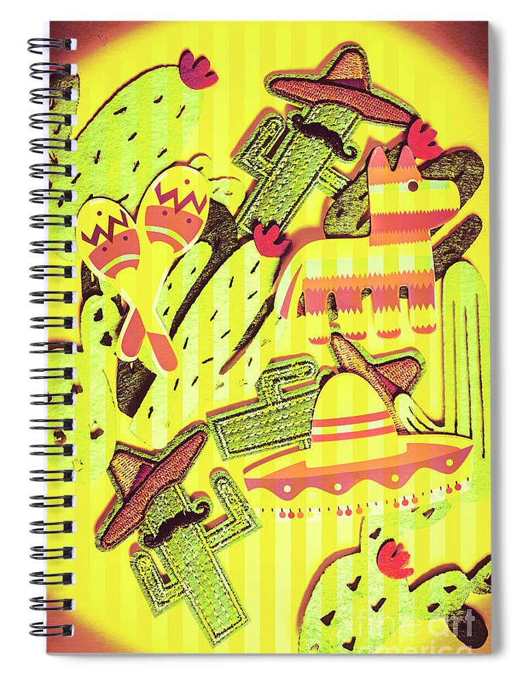 Mexican Spiral Notebook featuring the photograph Cactus Carnival by Jorgo Photography - Wall Art Gallery