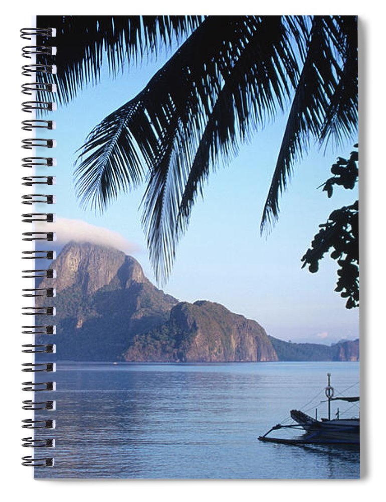 People Spiral Notebook featuring the photograph Cadlao Island From El Nido, Sunrise by Dallas Stribley