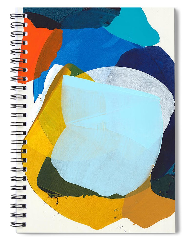 Abstract Spiral Notebook featuring the painting California 05 by Claire Desjardins