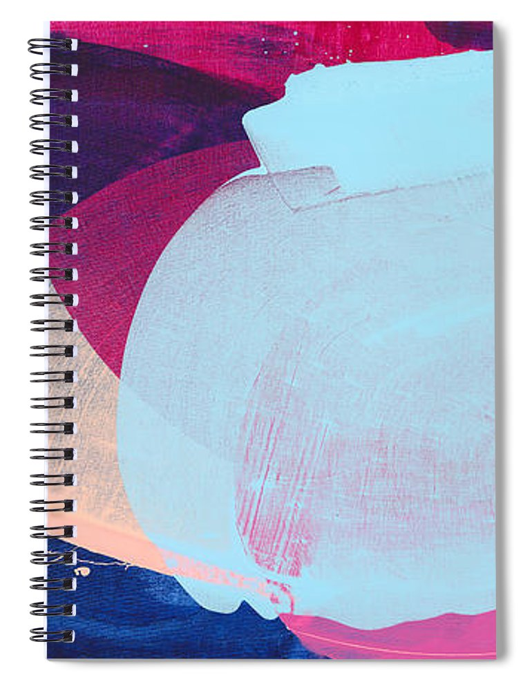 Abstract Spiral Notebook featuring the painting California 06 by Claire Desjardins