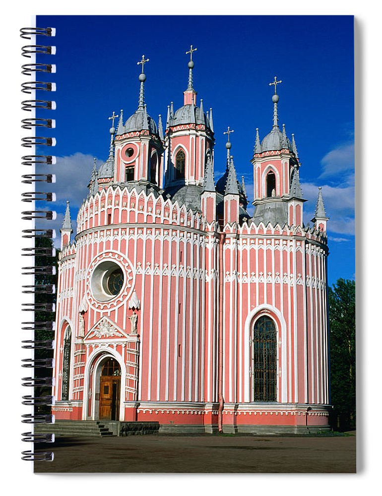 Gothic Style Spiral Notebook featuring the photograph Candy Stripes Of Chesma Church, St by Lonely Planet