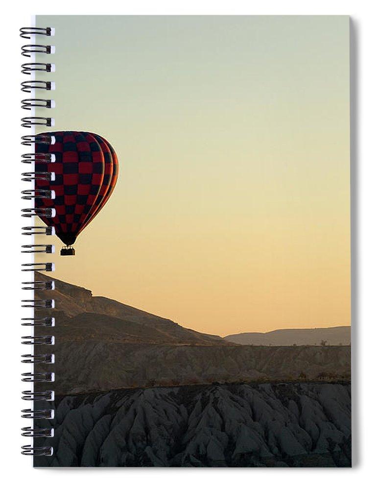 Scenics Spiral Notebook featuring the photograph Cappadocia Valley by Julian Kaesler