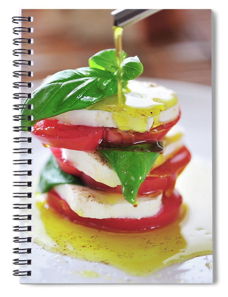 Caprese Salad Spiral Notebook featuring the photograph Caprese by Tanya f