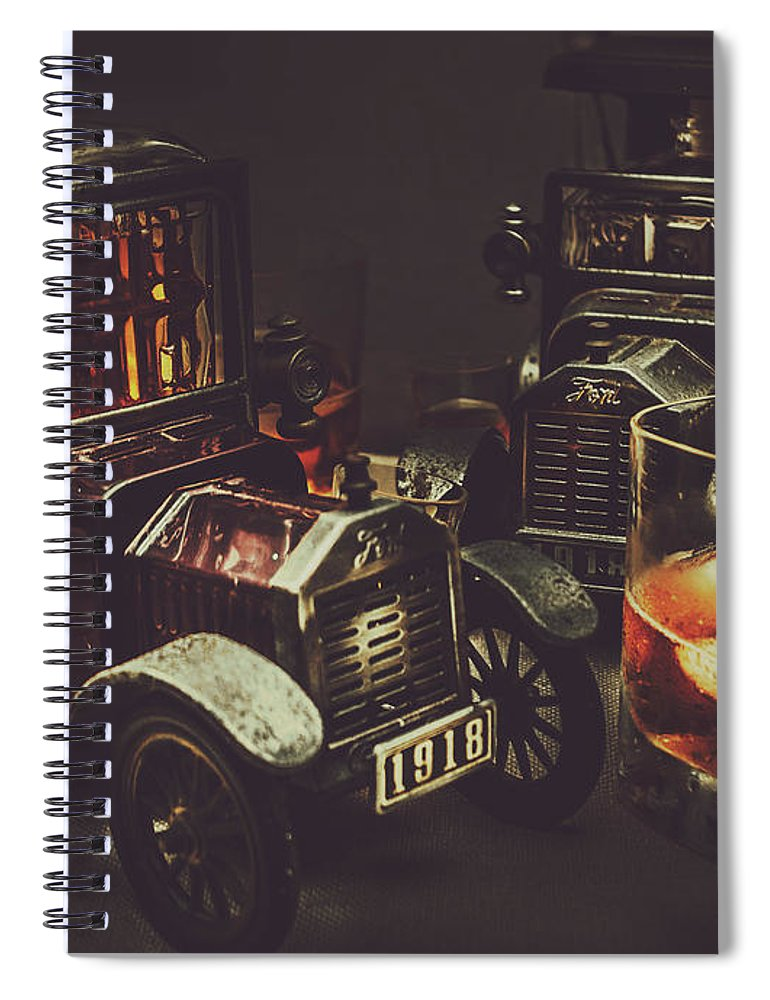 Whisky Spiral Notebook featuring the photograph Car Club by Jorgo Photography - Wall Art Gallery
