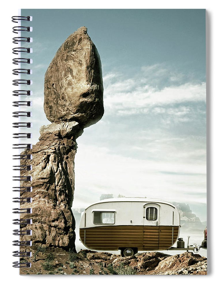 Camping Spiral Notebook featuring the photograph Careless Camping by Colin Anderson