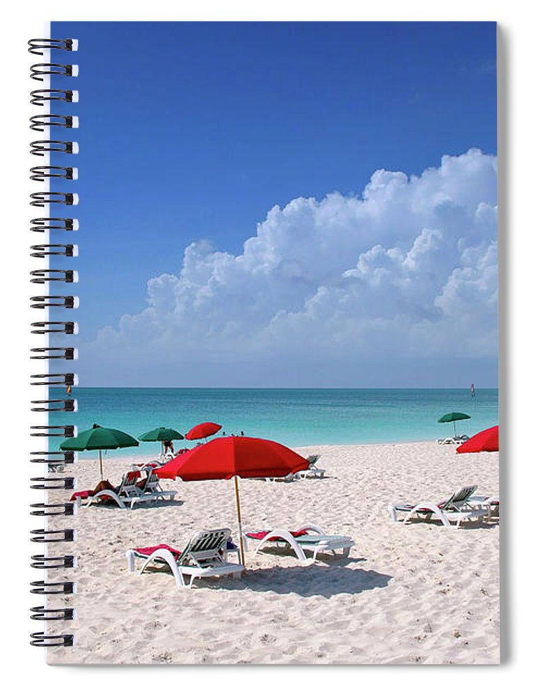 Ocean Spiral Notebook featuring the photograph Caribbean Blue by Stephen Anderson