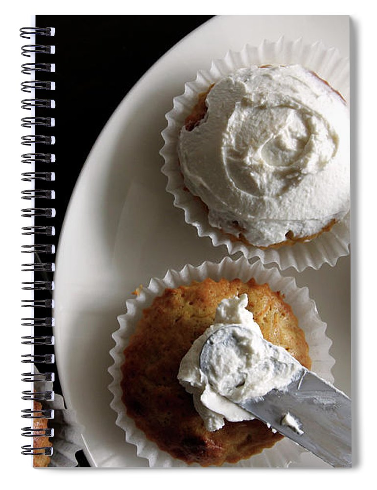 Unhealthy Eating Spiral Notebook featuring the photograph Carrot Cakes by Quilie